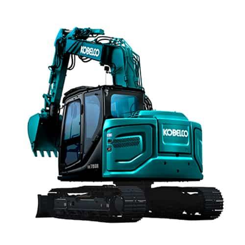 kobelco SK75SR 7 OFFSET midi excavator