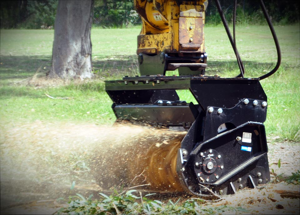 magnum mulcher excavator